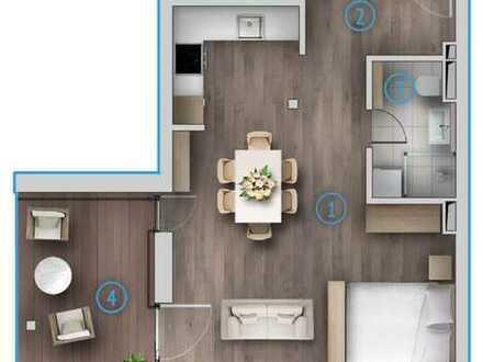 Exklusive Einzimmerwohnung mit Terasse