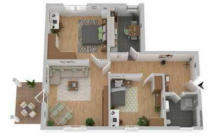 TOP sanierte Wohnung in stadtnaher Lage mit Schloßblick
