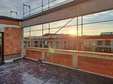 Penthaus Landesgartenschaugelände: Sonnenuntergang auf der Dachterrasse inklusive!