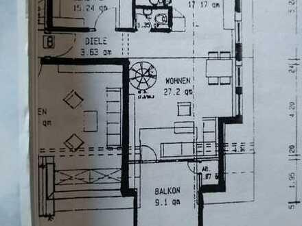 Helle 3-Zimmer-DG-Maisonette-Wohnung mit grossem Balkon in Lörrach-Brombach