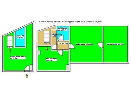 Altbauperle in guter Lage Cronenberg, helle 4 Zimmer Maisonette Wohnung