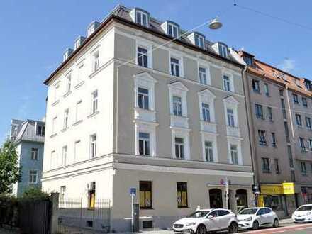 Gastronomie-/Gewerbefläche und Appartement in zentraler Lage, Nähe Harras!