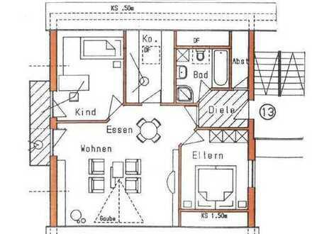 3,5-Zi.-Dachgeschosswohnung mit herrlichem Ausblick in Stadtrandlage