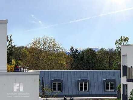 Penthouse-Feeling, Isarnähe und Alpenblick - chic möbliert