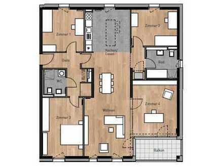 Neubau-Erstbezug! Großzügige 4,5 Zimmerwohnung mit Blick auf die Felder - HD-Bahnstadt