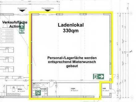 330qm Einzelhandelsfläche in bester Lage im Einkaufszentrum Ernst-Ihle-Straße in Ziegenhain