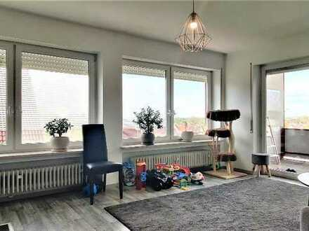 exklusive, ruhige Panorama-Dachterrassen Wohnung 3 ZKB in Stätzling bei Friedberg/Bay.
