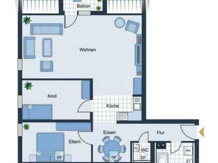 Schöne, geräumige 3,5-Zimmer-Wohnung mit EBK und Balkon in Lindenstraße, Ostrach