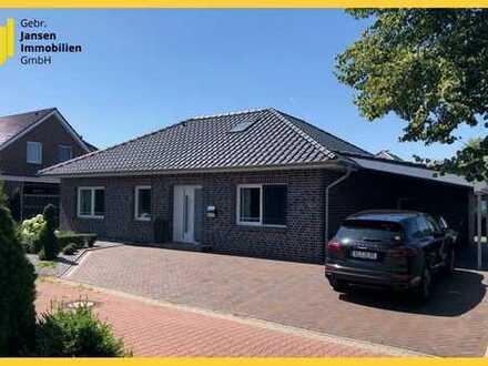 Zentral wohnen in Wiesmoor! Bungalow mit pflegeleichten Garten!