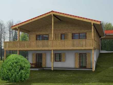 Exclusives eingeschossiges Holzhaus auf Gartengeschoss