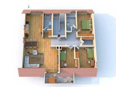 Provisionsfrei ! Helle 4 Zimmer DG-Wohnung - 2 Tageslicht-Bäder - Süd-Balkon - 1 PKW-Stellplatz