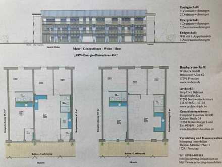 4 Zimmer Dachgeschosswohnung im Mehrgenerationenhaus Neubau 86,82 m² - Bezugsfertig Sommer 2022