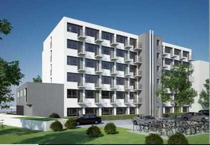 Neubau, Erstbezug, 1 ZKB App. möbiliert, Balkon, FH, Zentrum