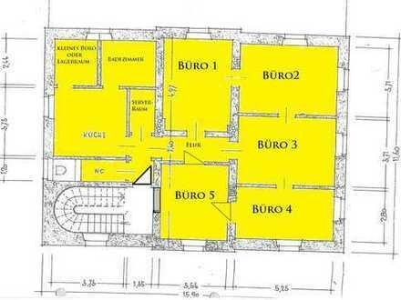 Bürofläche auf 2 Etagen in historischem Bahnhofsgebäude, Fläche teilbar