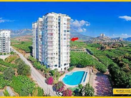 Ein fabelhaftes 3 Zimmer Apartment in einer friedlich ländlichen Wohngegend in Mahmutlar!
