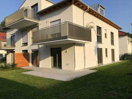 Neubau! 3 Zimmer Erdgeschosswohnung mit großem Garten in ruhiger Bestlage in Alt-Aubing