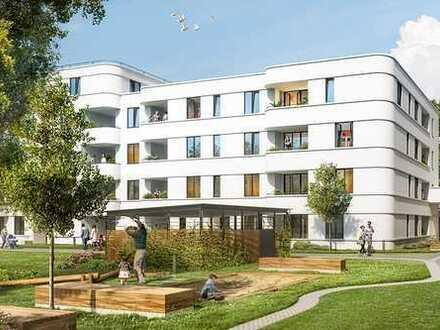 Hohe Fenster, Bio-Bodenbelag, Fußbodenheizung: Komfort genießen in den Lindenhöfen