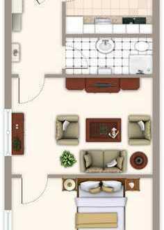 Ebenerdige 2,5 Zimmer Wohnung mit eigenem Eingang am Park!