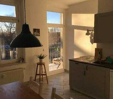 Helles 20 qm Zimmer auf dem Kaßberg mit großer Wohnküche und West-Balkon