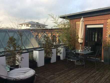 Dachgeschoss-Maisonette mit 45 qm Dachterrasse IM Alten Schlachthof