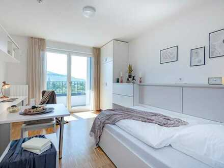 WOHNEN AUF ZEIT: Voll möbliertes Apartment mit Balkon und durchdachtem Raumkonzept