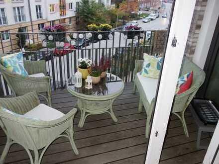 NEUBAU in Altona: Hochwertige 2. Zi.-Whg. mit Südloggia (Balkon), Vollbad, Parkett & EBK