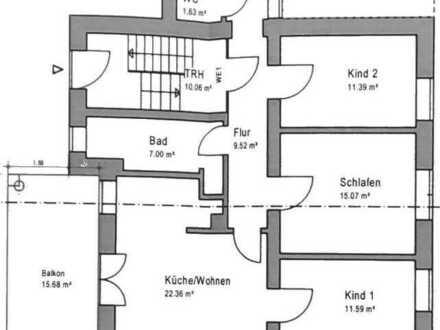 4-Raum-Wohnung mit Balkon und Einbauküche in Bad Kreuznach/Kreis