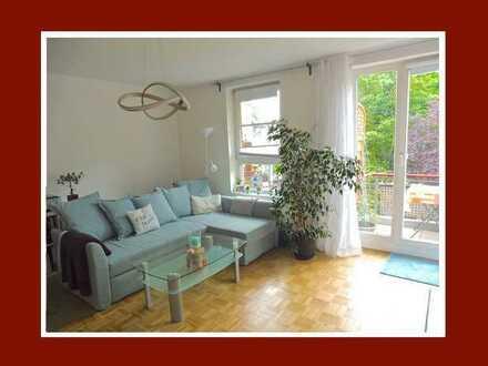 Vermietete Wohnung auf Erbpachtbasis mit idyllischem Blick ins Grüne!
