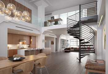 Bauhaus-Style - 7 bis 8-Zi.-Maisonette m. 2 Süd-West-Balkonen & Aufdach-Terrasse ins Grüne - Aufzug