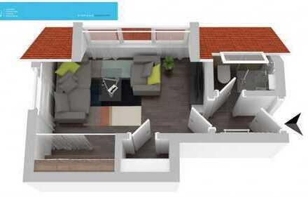 1-Zimmer Dachgeschoss-Apartment in zentraler Lage von Stuttgart-Wangen