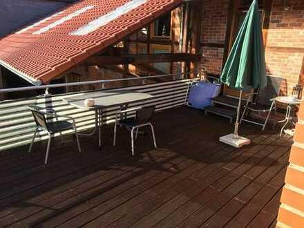 3-Zimmer-DG-Wohnung 120 m² mit Balkon und Einbauküche in Wipshausen
