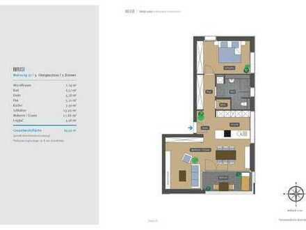 !!2-Zimmer-Neubauwohnung mit EBK im 5.OG - Bezug zum 01.04.2020!!
