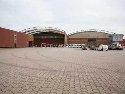 12.270 m² Halle (teilbar) | Kranbahnen | Freifläche