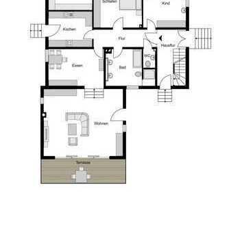 Attraktive Erdgeschosswohnung mit fünf Zimmern und Garten in Bochum