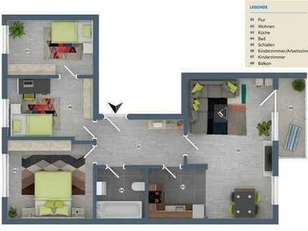 Sanierte 3 1/2-Raum-Wohnung mit Balkon, ideal für kleine Familien