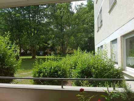 Gut geschnittene Wohnung mit Blick ins Grüne