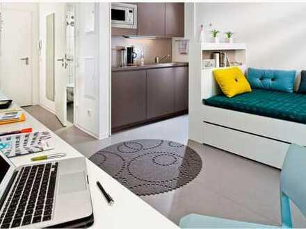 Exklusive, möbilierte 1-Zimmer-Wohnung mit Einbauküche im Studentenwohnheim Campus Viva