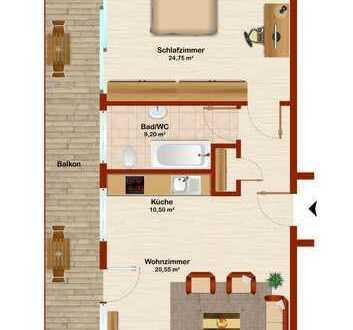 Helle, freundliche 2 Zimmer-Wohnung in zentraler Lage
