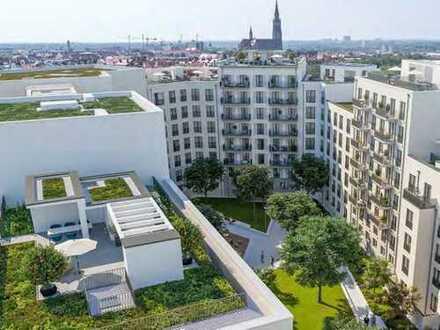 Hochgefühl! 3-Zimmer-Wohnung mit 2 Bädern, Loggia und geschütztem, sorgsam bepflanzten Innenhof