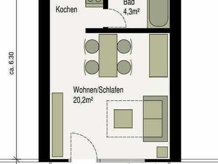 Geschmackvolle 1 Zimmer Wohnung sowie Balkon, Küche, Aufzug und Fussbodenheizung in Kornwestheim