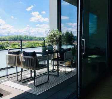 Exklusive Car-Loft-Wohnung mit 2 Balkonen und hochwertiger EBK in Karlsruhe