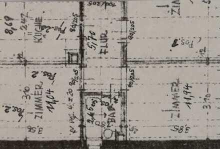 Gepflegte 2-3-Zimmer-EG-Wohnung mit Balkon und EBK in der Hildesheimer Innenstadt