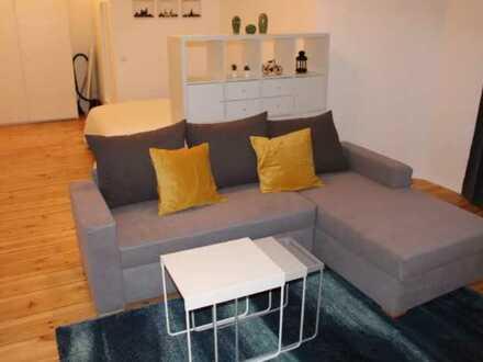 Modernisierte 1-Zimmer-Loft-Wohnung mit Balkon und EBK in Ettlingen