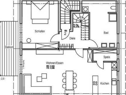 Erstbezug mit Balkon: schöne 4,5-Zimmer-Maisonetten-Wohnung im Waldfeld in Forchtenberg