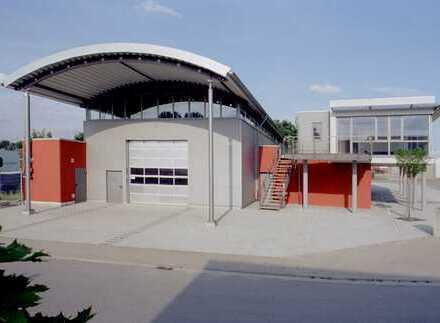 Gewerbehalle mit Nebenräumen und Büroflächen. Ab 1.Juli 2020 verfügbar