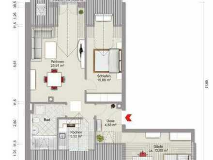 Gepflegte 3-Zimmer-DG-Wohnung mit Balkon und Einbauküche in Manching