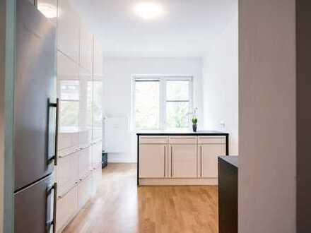 Stilvolle, gepflegte 3-Zimmer-Wohnung mit großer süd/west Loggia in Düsseldorf-Golzheim