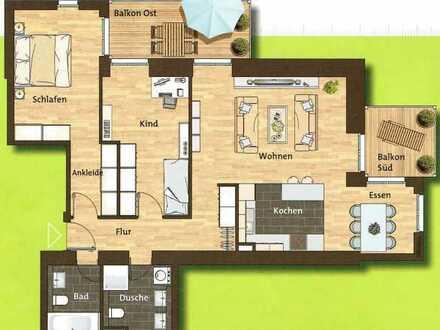 Schöne 3-Zimmer-Wohnung mit 2 Balkonen