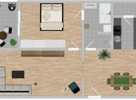 2,5 - 3 Zimmer Whg. mit Loftcharakter - neue EBK, Balkon, 3.OG, Erstbezug n. Modernisierung
