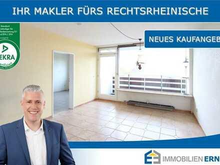 Freie 2 Zimmer Wohnung ohne Käuferprovision in Köln-Höhenberg - Starten Sie durch in 2021